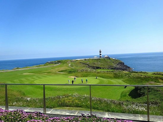 Old Head Golf Links: View from the clubhouse patio