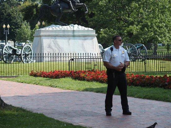 Lafayette Square: The Secret Service guarding the President