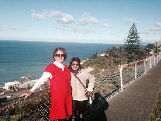 Bluff Hill Lookout: The girls