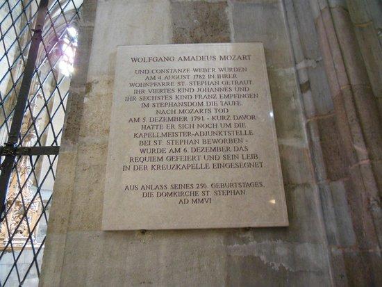 Stephansdom: モーツァルトの記念碑
