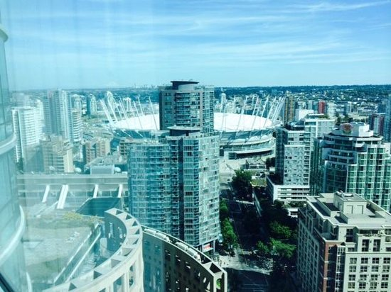 Westin Grand Vancouver: View from the top floor