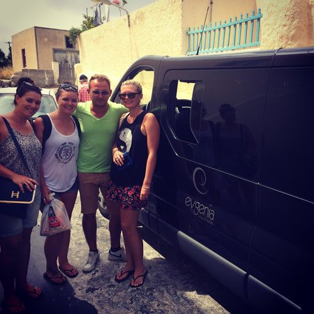 Evgenia Villas & Suites: Our driver that should be a tour guide :)