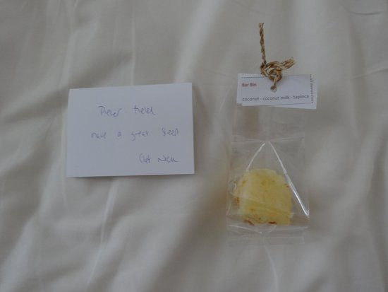 SALA Samui Choengmon Beach Resort: Treats left by the chef each night