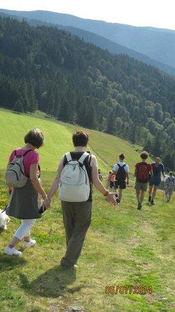 Luttenbach-pres-Munster, Francja: descente avec le groupe de randonneurs