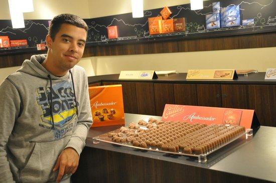 Maison Cailler Chocolaterie : Degustacion