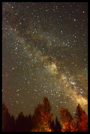 The night sky from the lawn at High Country Inn.  We had a great girls' weekend there!