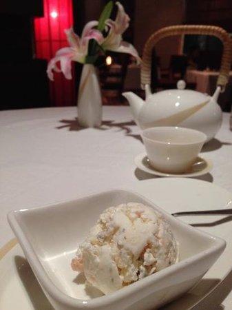 Taj Coromandel Chennai: signature lychee and basil seeds ice cream, on the house 😍