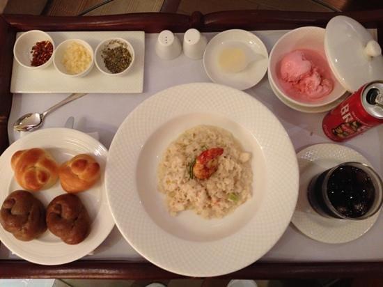 Taj Coromandel Chennai: love this prawn and fennel risotto for in room dining