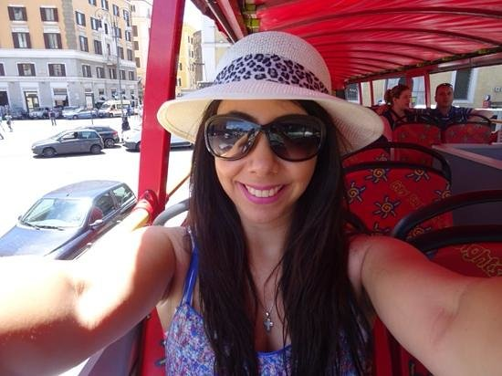 City Sightseeing Rome: hop on hop off Rome With roof for shade:)