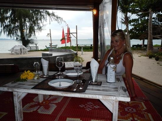 Beachlounge - Thong Sala : perfektes Dinner in der beachlounge