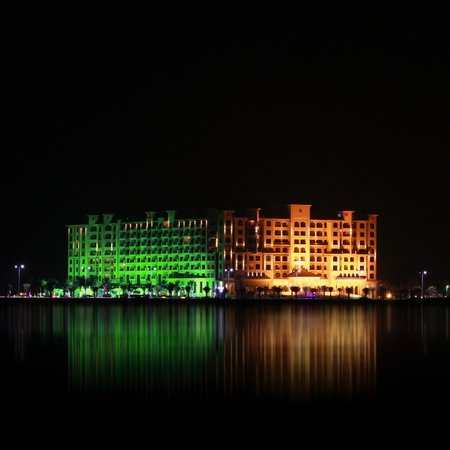 Marjan Island Resort & Spa: The hotel from the other side of the island.