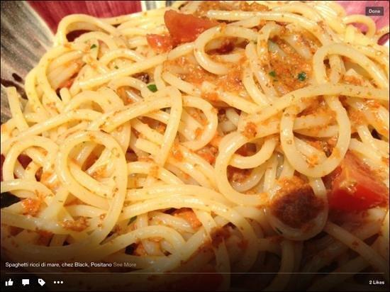 CHEZ BLACK: spaghetti sea urchins