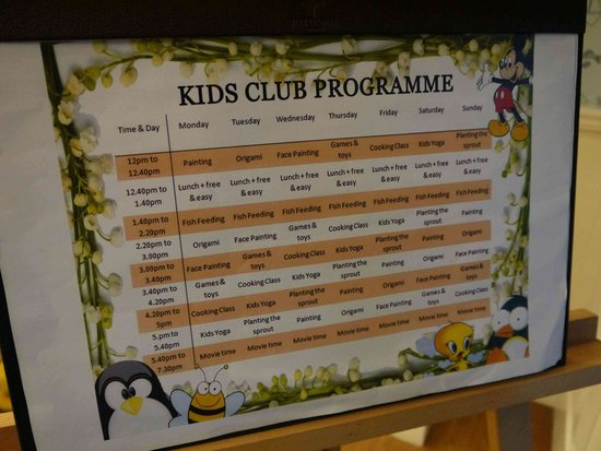 The Danna Langkawi: Kid's room programme