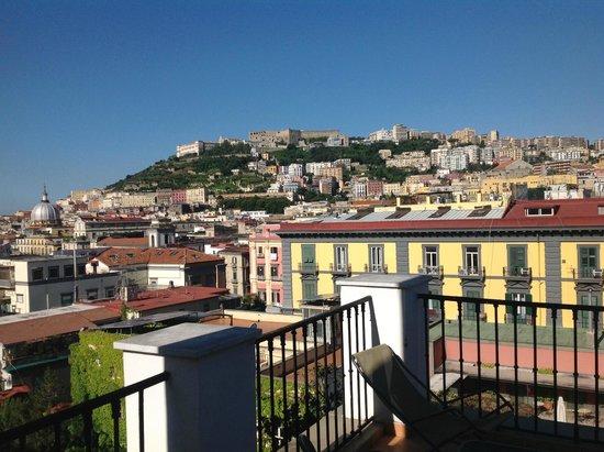 Hotel Piazza Bellini: Unsere Terrasse