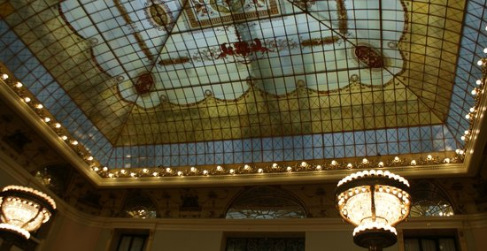 Hotel Metropol Moscow : Ceiling of the restaurant