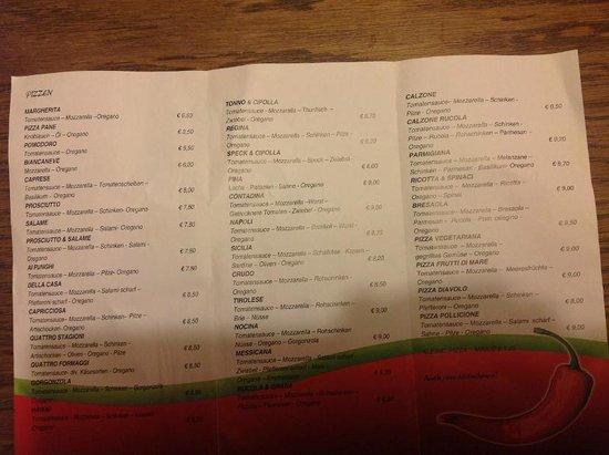 La Pizzeria Di Salvatore: I prezzi