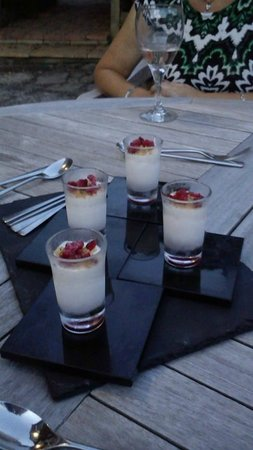 Saracens at Hadnall: White Chocolate and Honeycomb Parfait