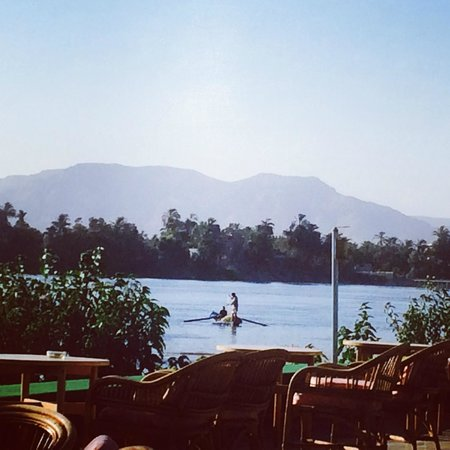 Jolie Ville Hotel & Spa - Kings Island, Luxor: the view from our breakfast table