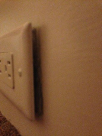 The Westin St. Francis San Francisco on Union Square : Power socket coming off the wall