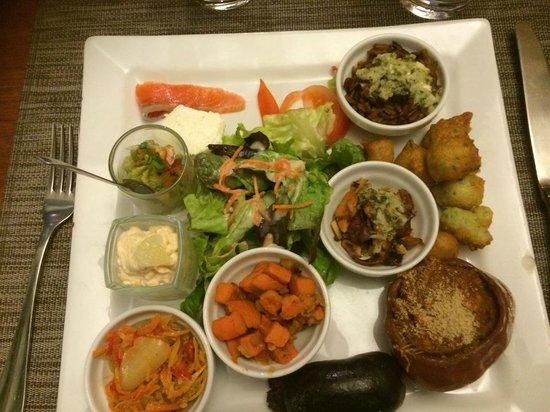 Restaurant Vivenel : Assiette Mêlé
