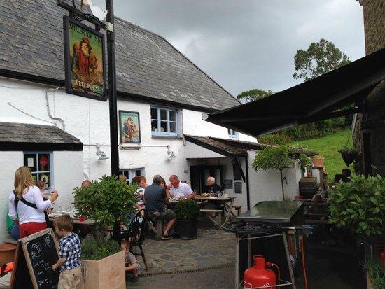 The Millbrook Inn: The pub entrance