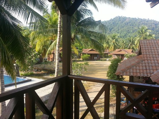 D'Coconut Resort: View of the mountain behind