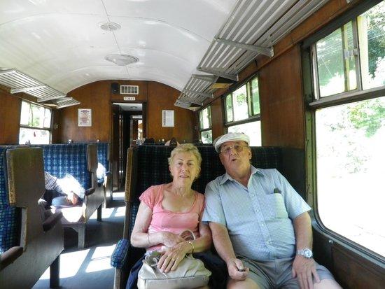 Lakeside & Haverthwaite Steam Railway: On the train like a couple of kids
