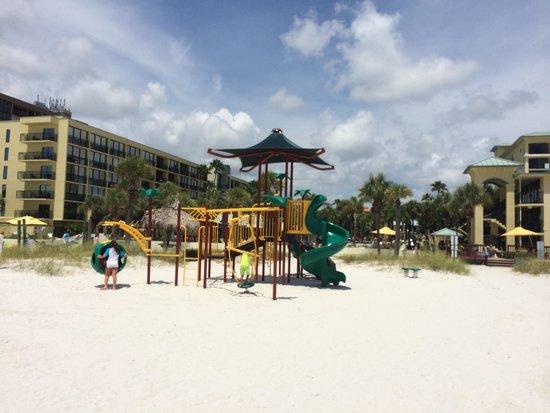 Sirata Beach Resort: Children's playground on beach