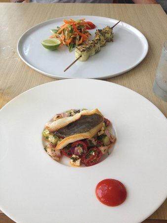 Harbour Fish and Grill: john dory and haddock kebabs