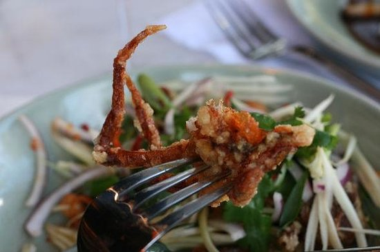Chedi Thai: Soft Shell Crab w/ Green Mango