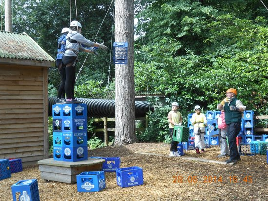 The Adventure Rope Course: Crate Stacking