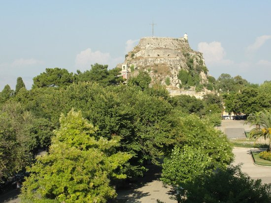 Arcadion Hotel : View of park and fortress from our room