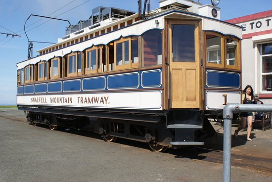 Manx Electric Railway: Top of the mountain