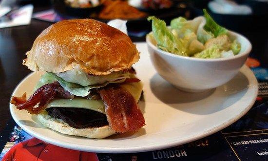 BBQ Bacon Cheeseburger at Planet Hollywood London