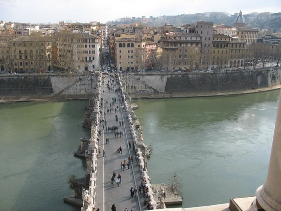 Castillo de Sant'Angelo: Il ponte Miglio visto dal Castello