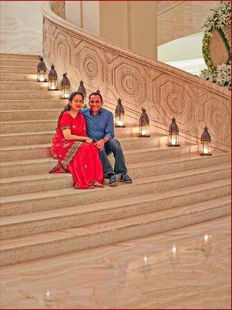 ITC Grand Chola, Chennai: The Grand Staircase! Warm Welcoming experience. Wonderful!