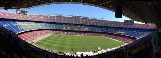 Camp Nou: panoramic view of the Stadium