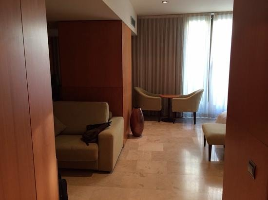Gran Hotel Torre Catalunya: walkway into the room