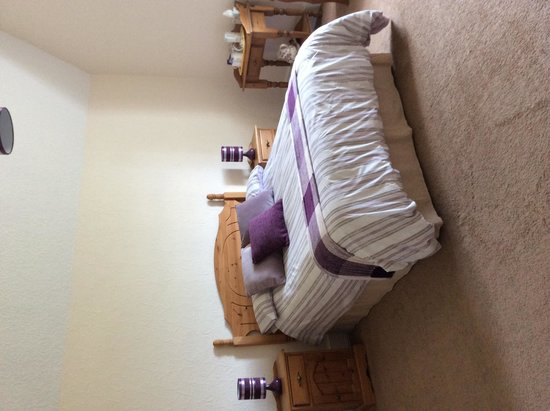 Tyn Hendre Farm: Family room with single bed and put up bed if needed