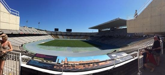Estadi Olímpic: Panoramic view from the entrance