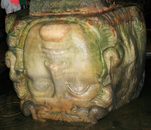 Historic Areas of Istanbul: Basilica Cistern - recycled head