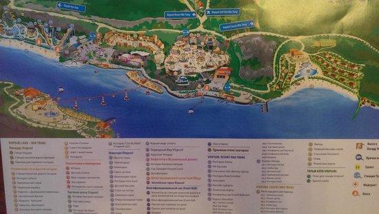 Vinpearl Luxury Nha Trang : Карта острова с описаниями