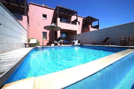 Stella Palace Resort & Spa: La villa maisonnette, situé dans le haut de l'hôtel avec piscine privée. Avec sa vue sur les cha