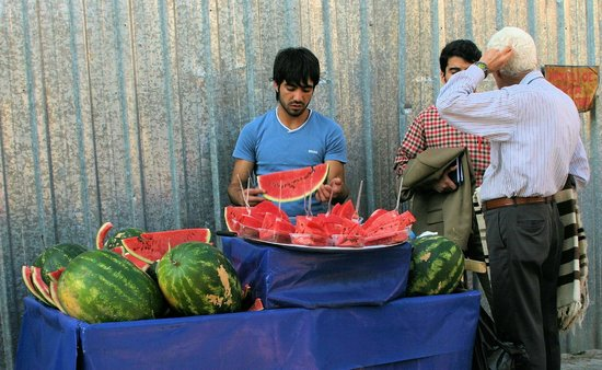 Historic Areas of Istanbul: wonderfully fresh watermelon