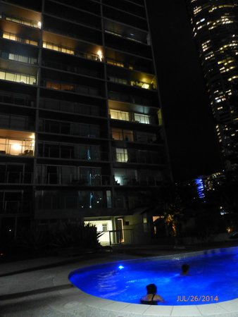 One The Esplanade: night view of apartments