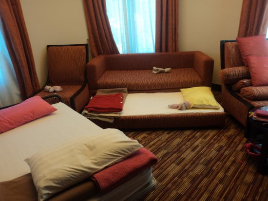 Sunway Resort Hotel & Spa: area where the children slept (junior suite)