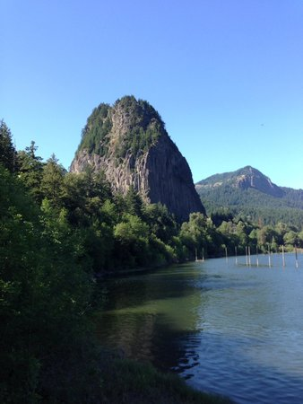 View of Beacon Rock from the marina