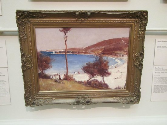 Galerie d'art de Nouvelle-Galles du Sud : Wonderful Impressionist painting by Tom Roberts 'Holiday Sketch at Coogee 1888'