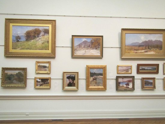 Art Gallery of New South Wales: A wall of excellent Impressionist Art from Australian Artists