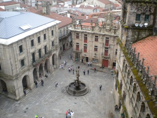 Kathedrale von Santiago de Compostela: Vista de la Praza de Praterías desde la cubierta